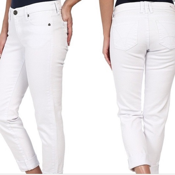 Kut from the Kloth Denim - KUT Katy Boyfriend White Jeans Size 6